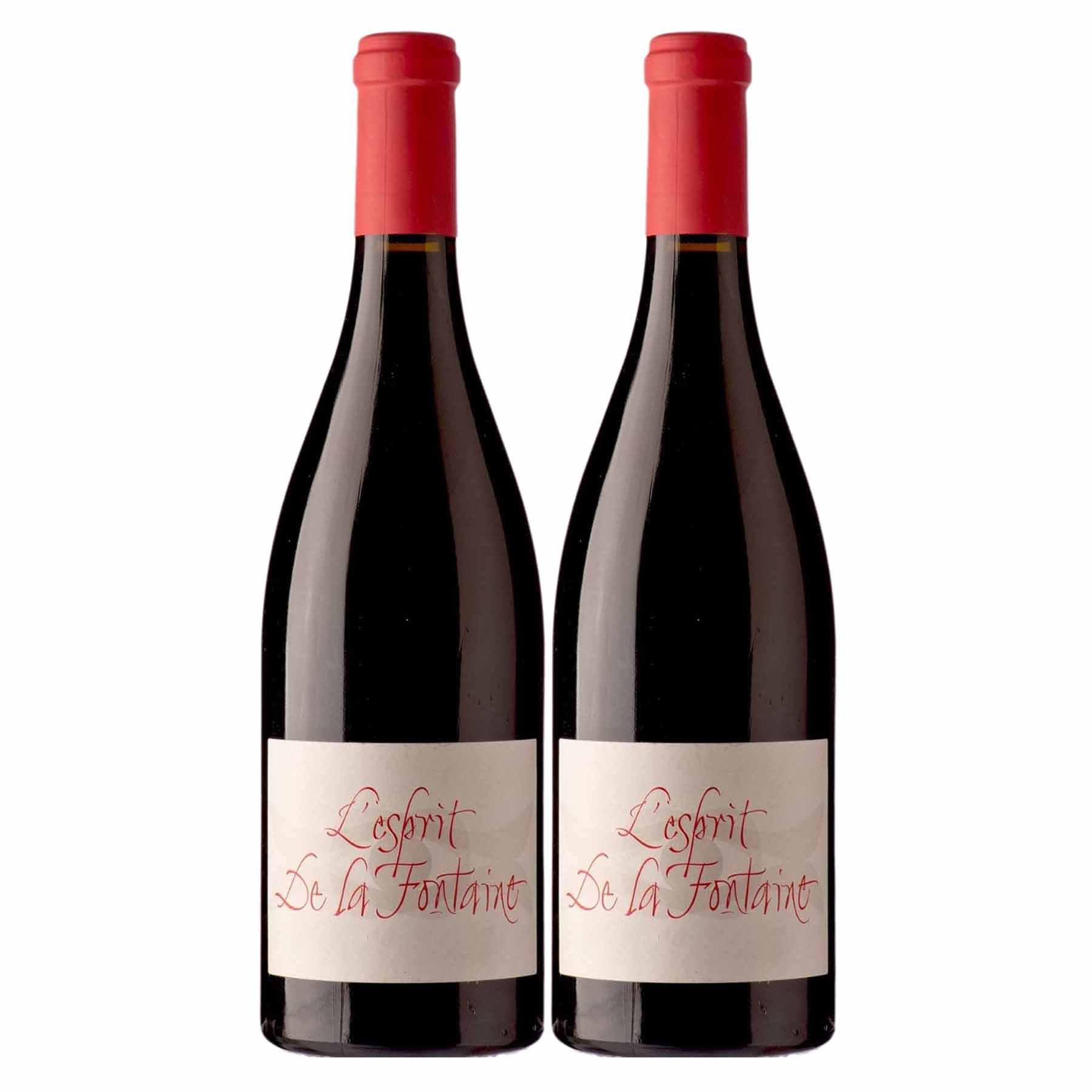 Kit 2x Vinho Tinto Francês L'Esprit de La Fontaine Languedoc 2016