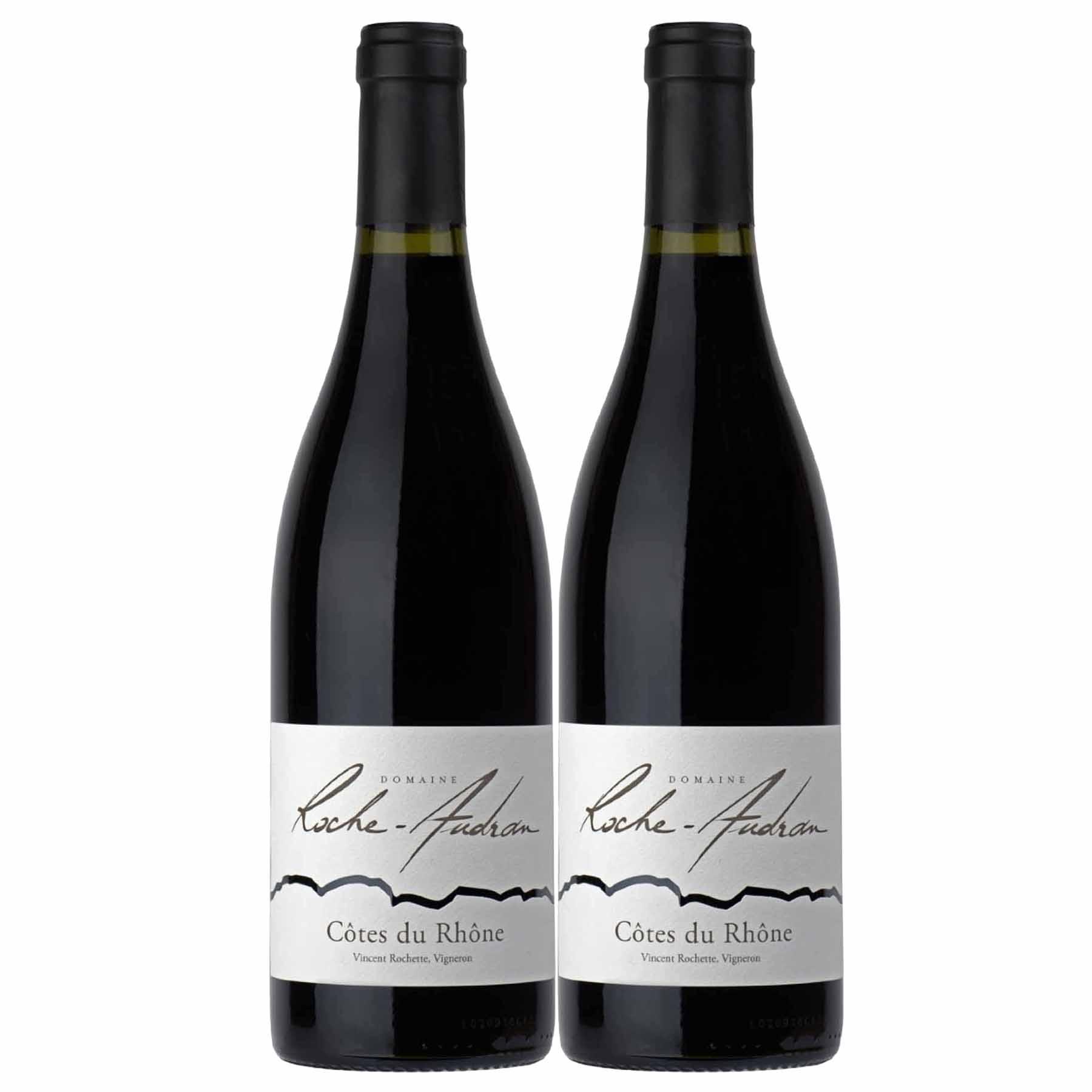 Kit 2x Vinho Tinto Francês Roche Audran Côtes du Rhône 2018