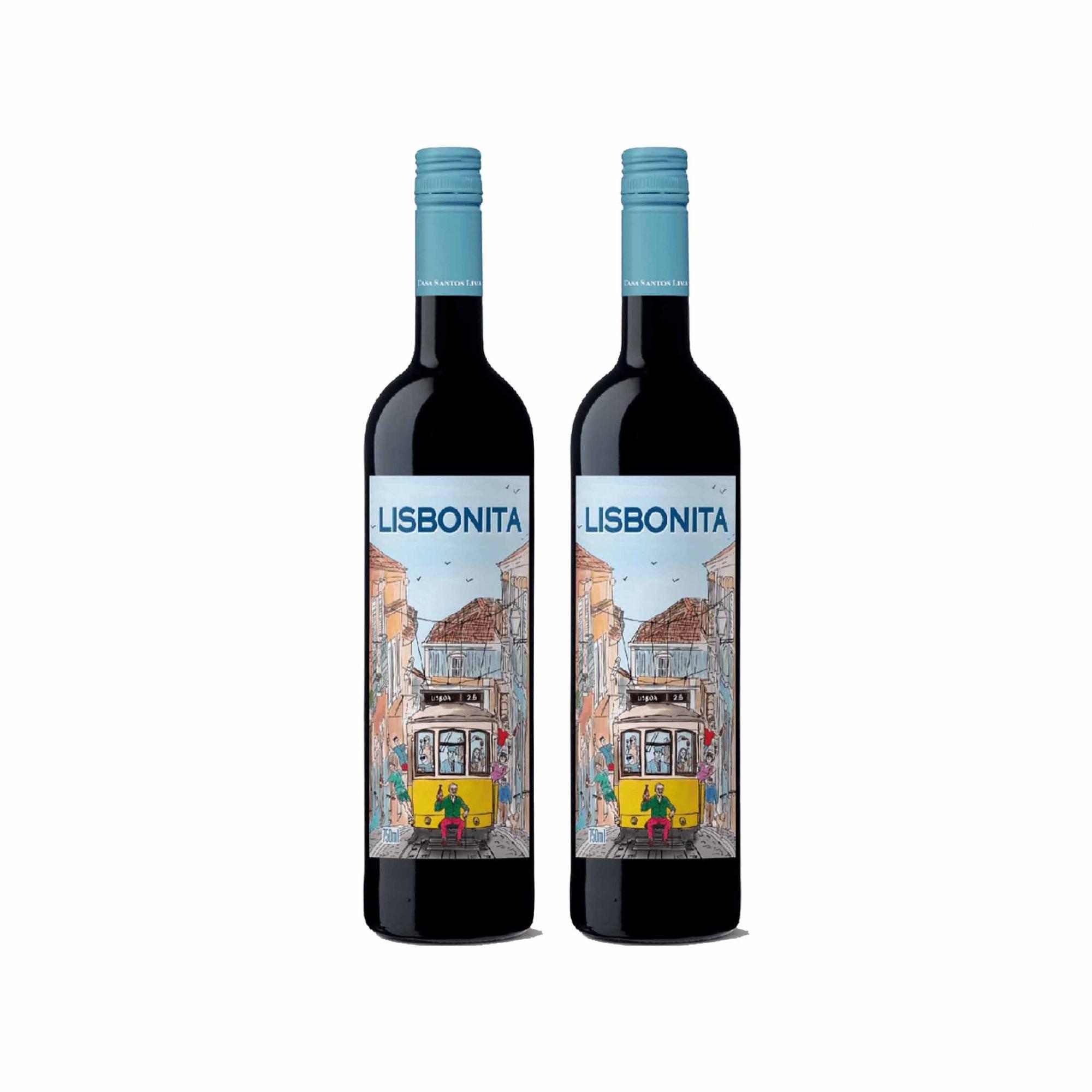 Kit 2x Vinho Tinto Português Casa Santos Lima Lisbonita 2018