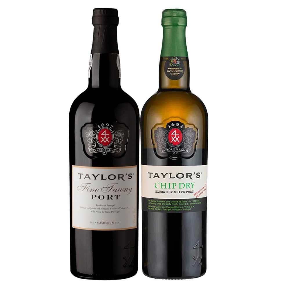Kit 2x Vinhos do Porto Taylor's Tawny e Chip Dry