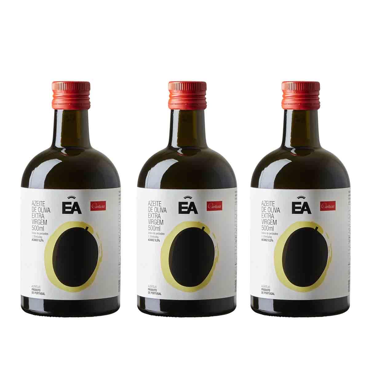 Kit 3 Azeite de oliva extra virgem Português EA Cartuxa 500ml