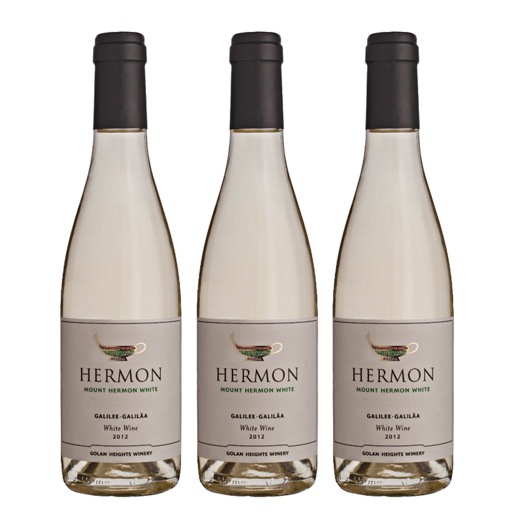 Kit 3 Vinho Branco Israelense Kosher Hermon Yarden Golan Heights 2018