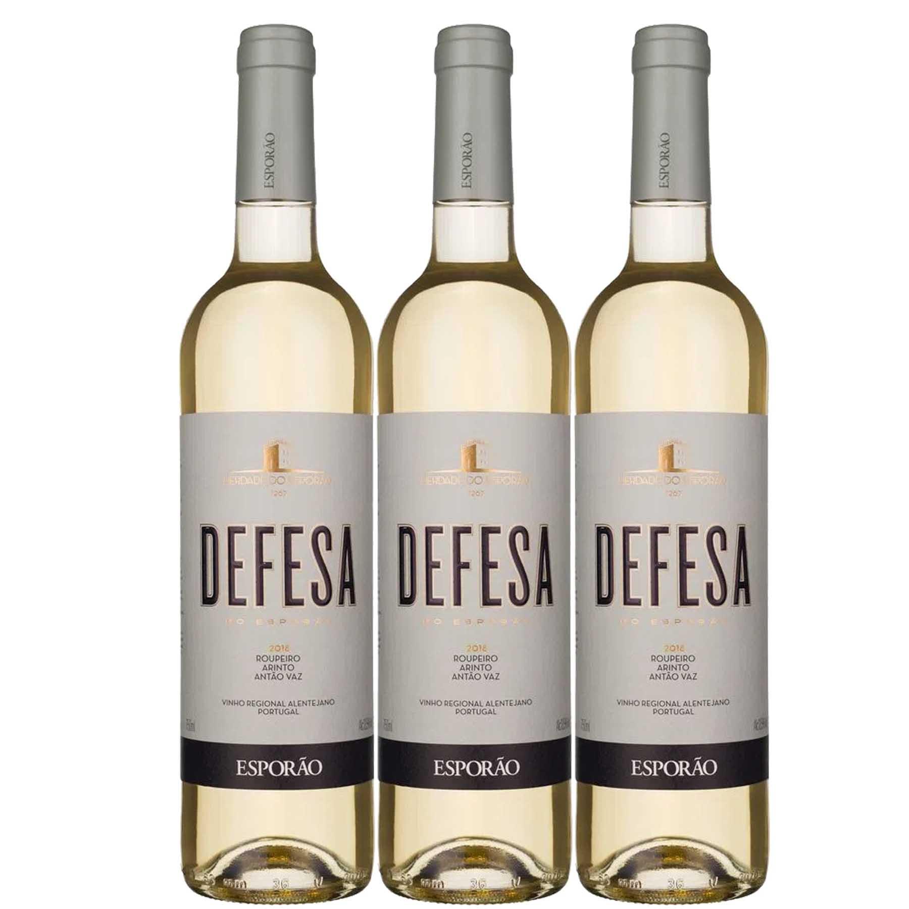 Kit 3 Vinho Branco Português Vinha da Defesa Esporão 2018