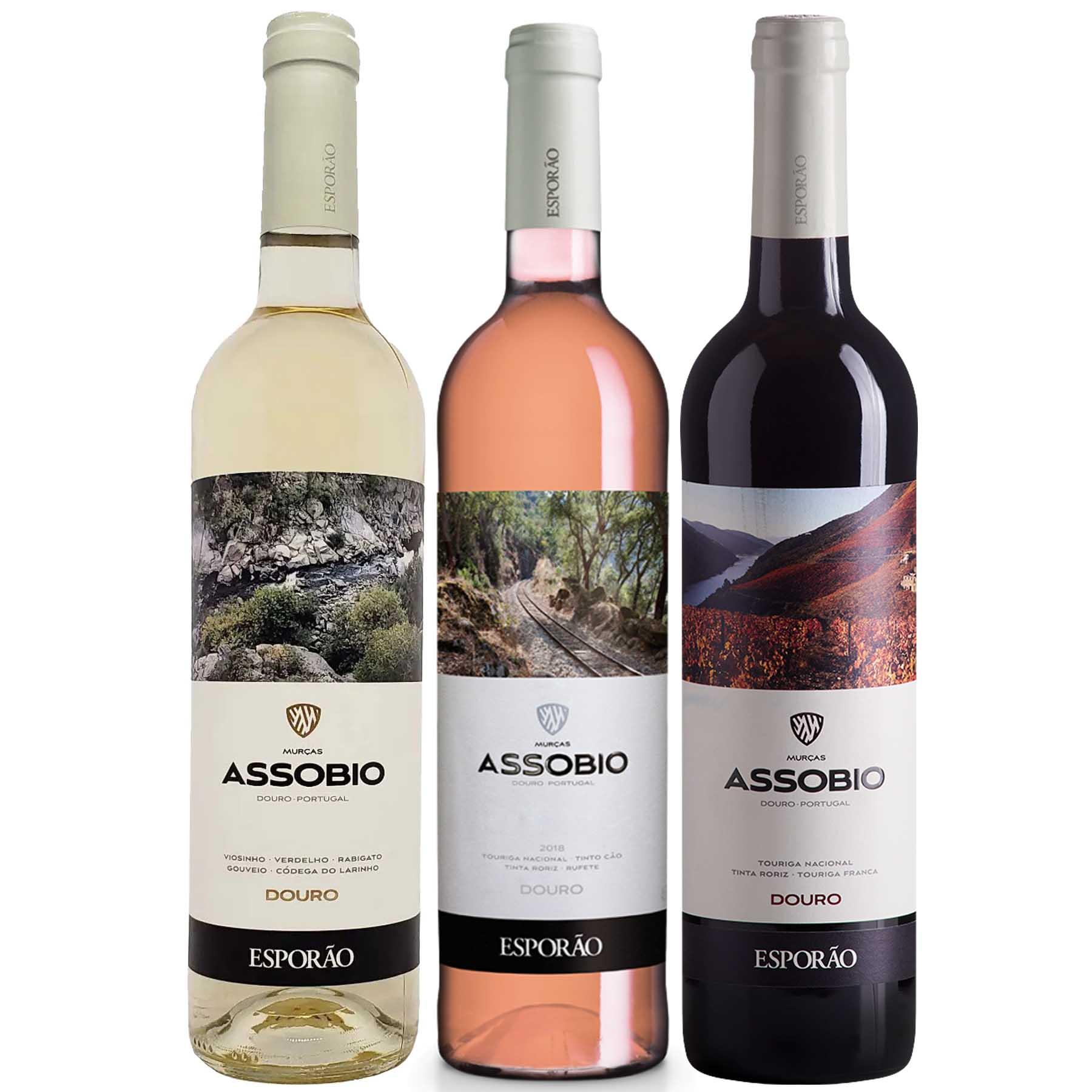 Kit 3 Vinho Branco/Tinto/Rosé Português Esporão Assobio