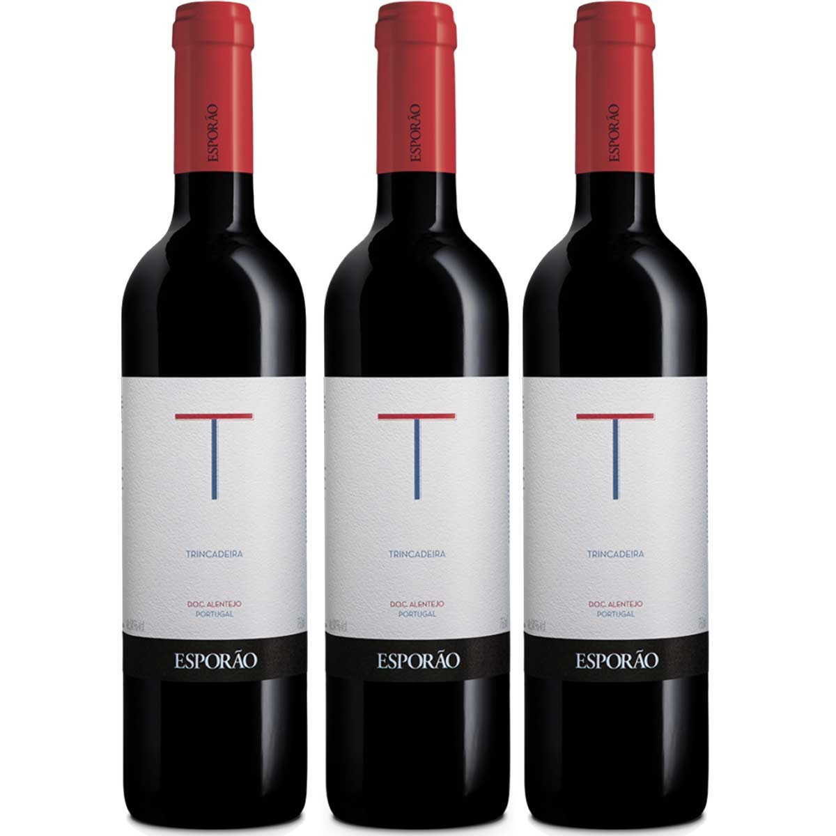 Kit 3 Vinhos Tinto Português Esporão Trincadeira 2018 750ml