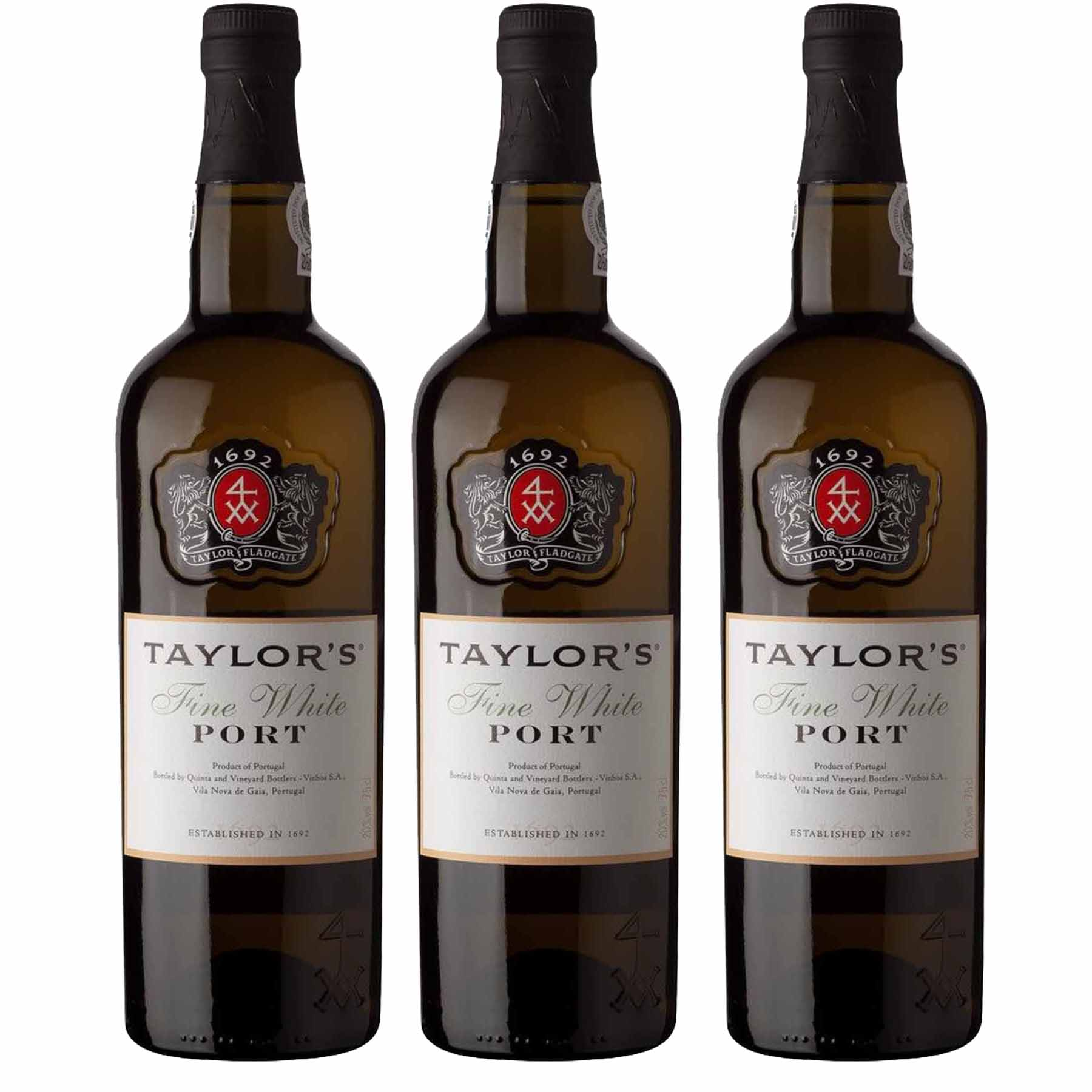 Kit 3x Vinho do Porto Branco Taylor's White Fine Douro 750ml