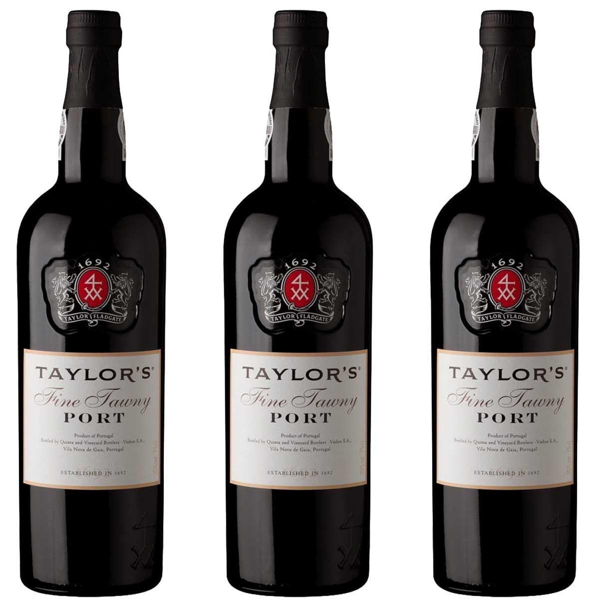 Kit 3x Vinho do Porto Tinto Tawny Taylor's Português