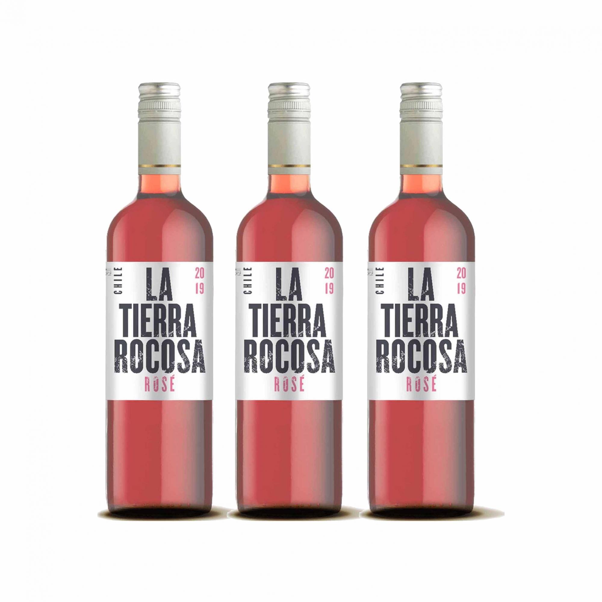 Kit 3x Vinho Rosé Chileno La Tierra Rocosa 2020