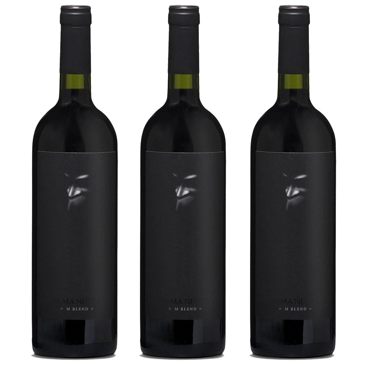 Kit 3x Vinho Tinto Argentino Alma Negra Ernesto Catena 2017