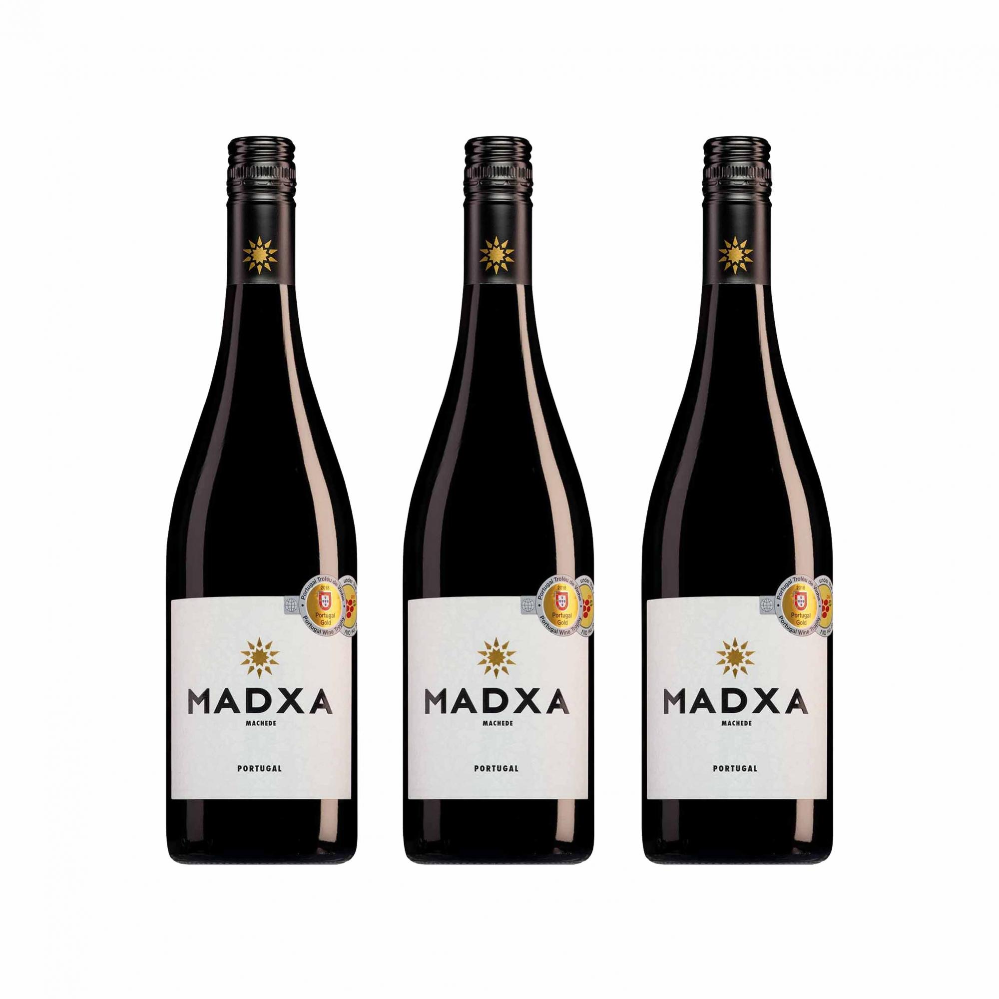 Kit 3x Vinho Tinto Português Casa Relvas Madxa 2018