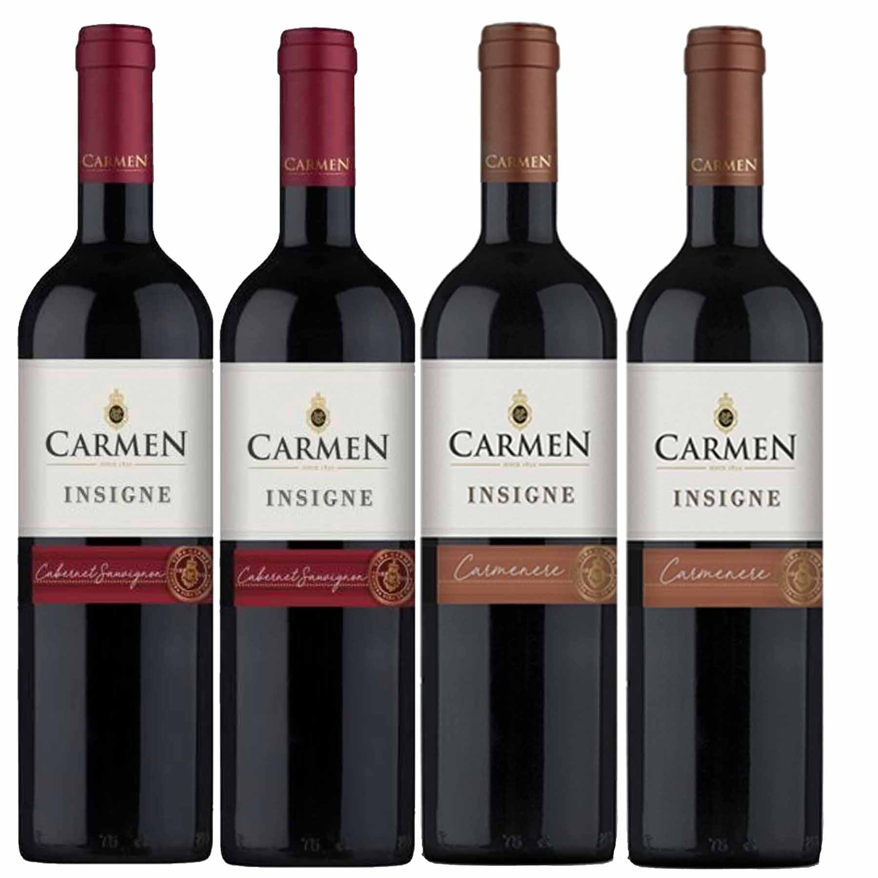 Kit 4 Vinhos Chilenos Carmen Insigne Cabernet Sauvignon e Carmenere