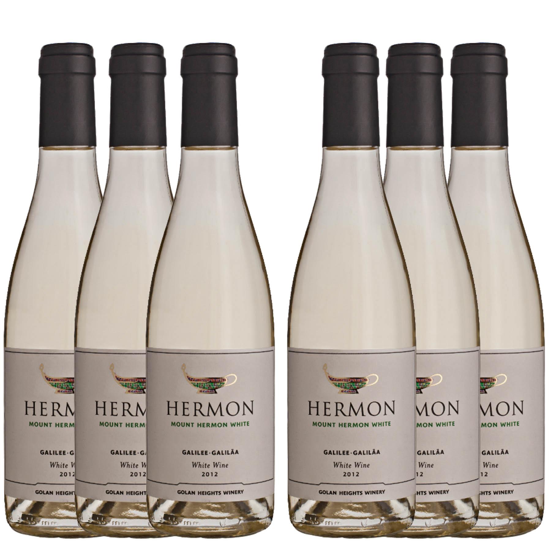 Kit 6 Vinho Branco Israelense Kosher Hermon Yarden Golan Heights 2018