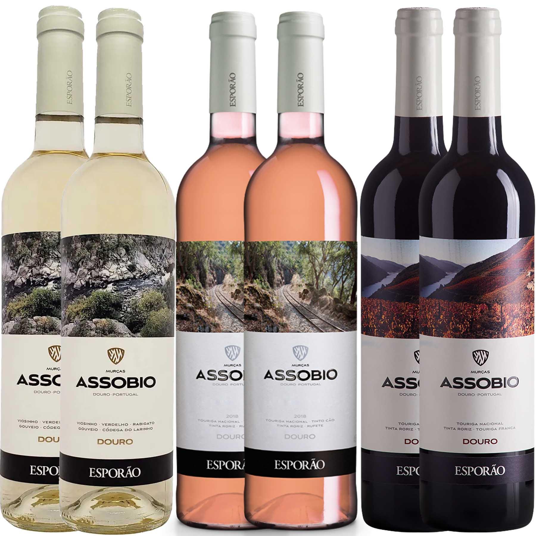 Kit 6 Vinho Branco/Tinto/Rosé Português Esporão Assobio
