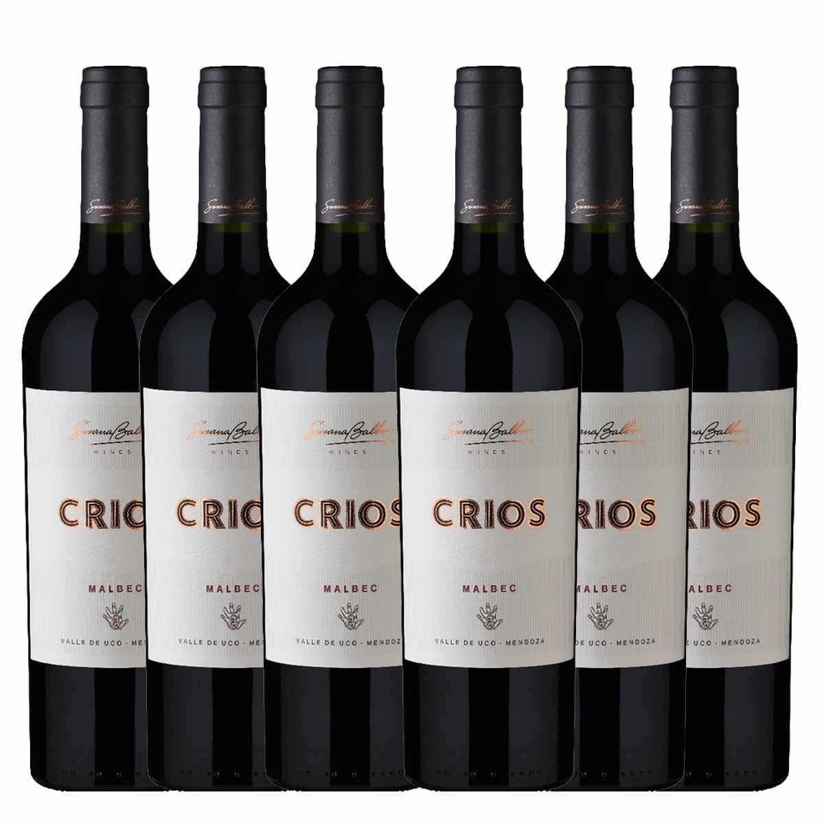 Kit 6 Vinho Tinto Argentino Susana Balbo Crios Malbec 2018 750ml