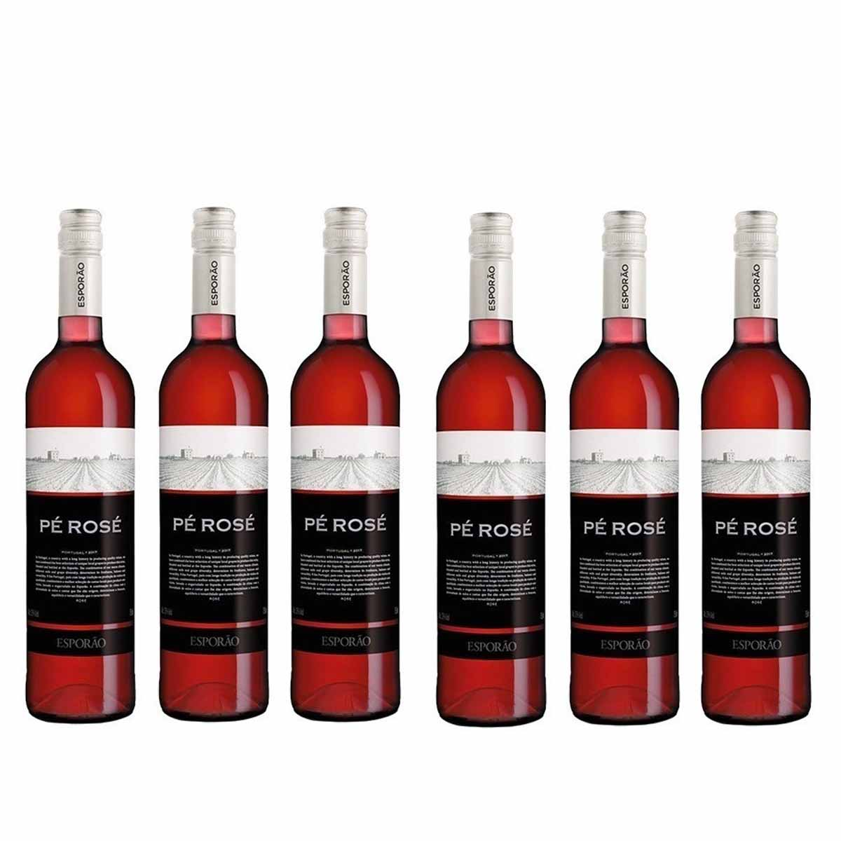 Kit 6 Vinhos Porgueses Pé Rosé Esporão 750ml