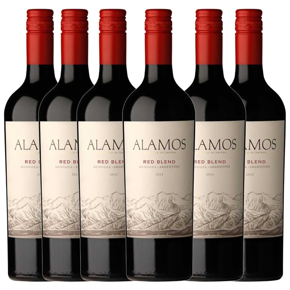 Kit 6x Vinho Argentino Tinto Alamos Blend 2018 Catena Wines