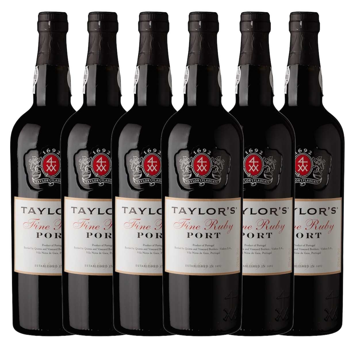 Kit 6x Vinho do Porto Tinto Ruby Taylor's Português