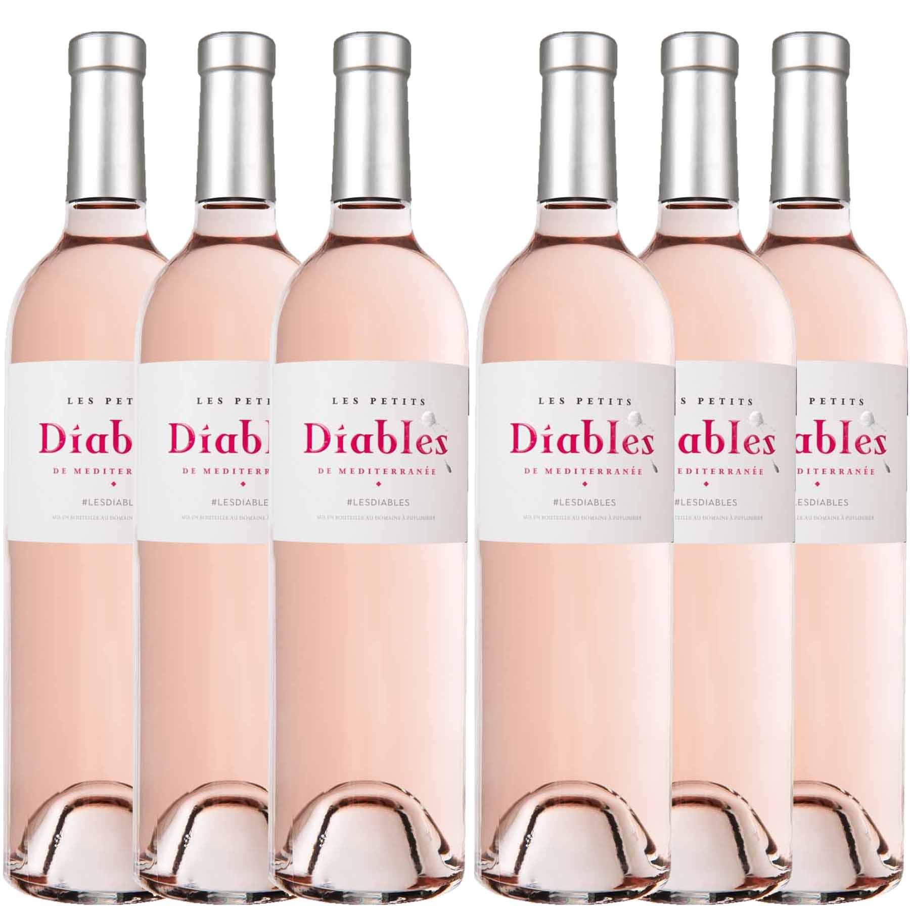 Kit 6x Vinho Rosé Francês Les Petits Diables Côtes De Provence 2019