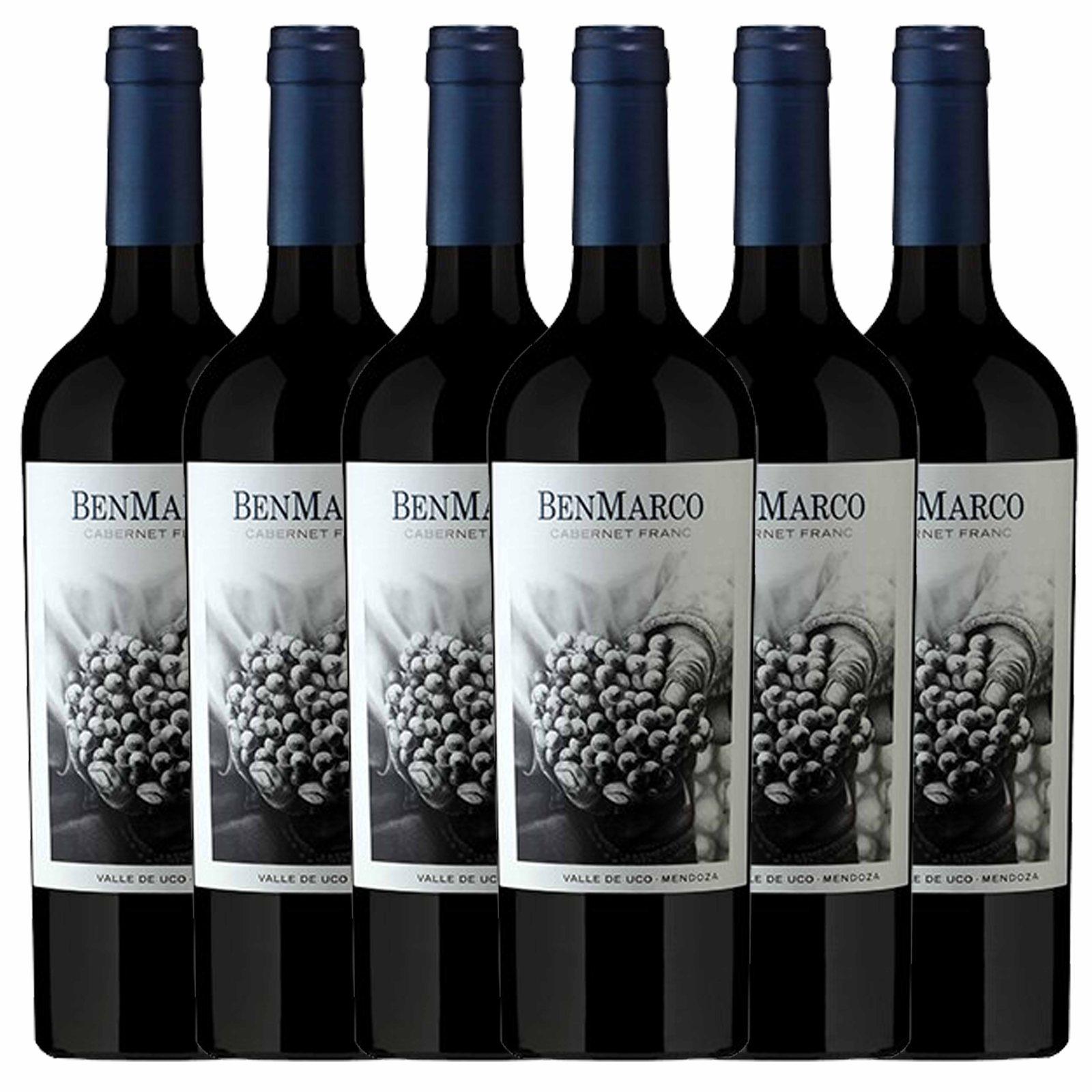 Kit 6x Vinho Tinto Argentino Benmarco Cabernet Franc 2018 750ml