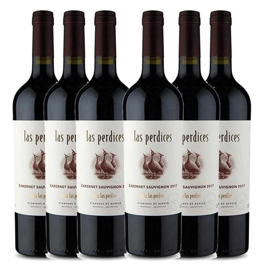 Kit 6x Vinho Tinto Argentino Las Perdices Cabernet Sauvignon 2019