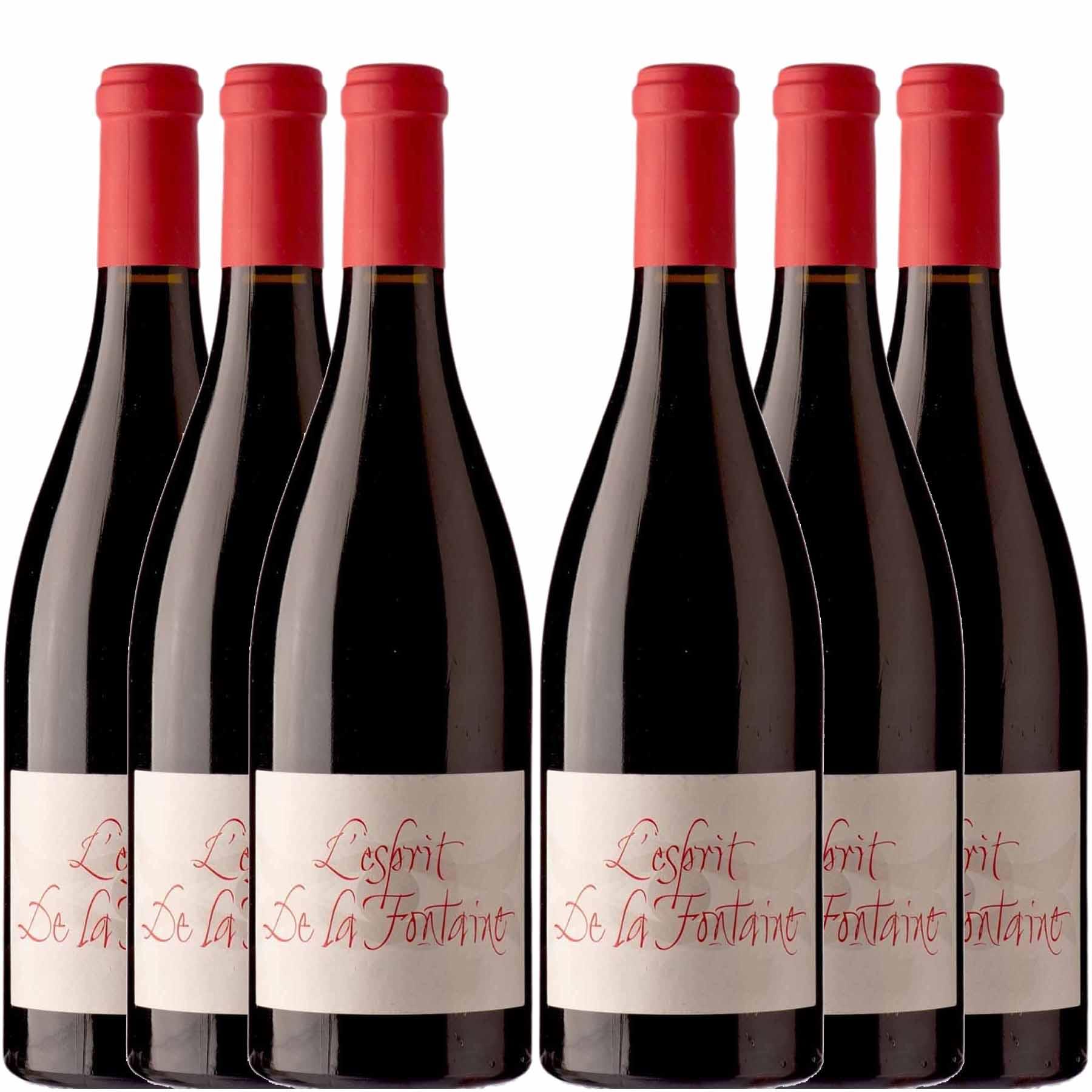 Kit 6x Vinho Tinto Francês L'Esprit de La Fontaine Languedoc 2016
