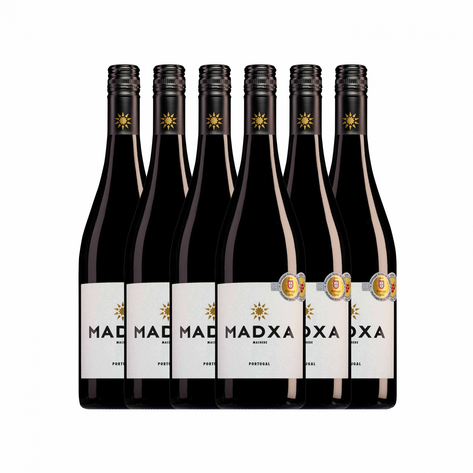 Kit 6x Vinho Tinto Português Casa Relvas Madxa 2018