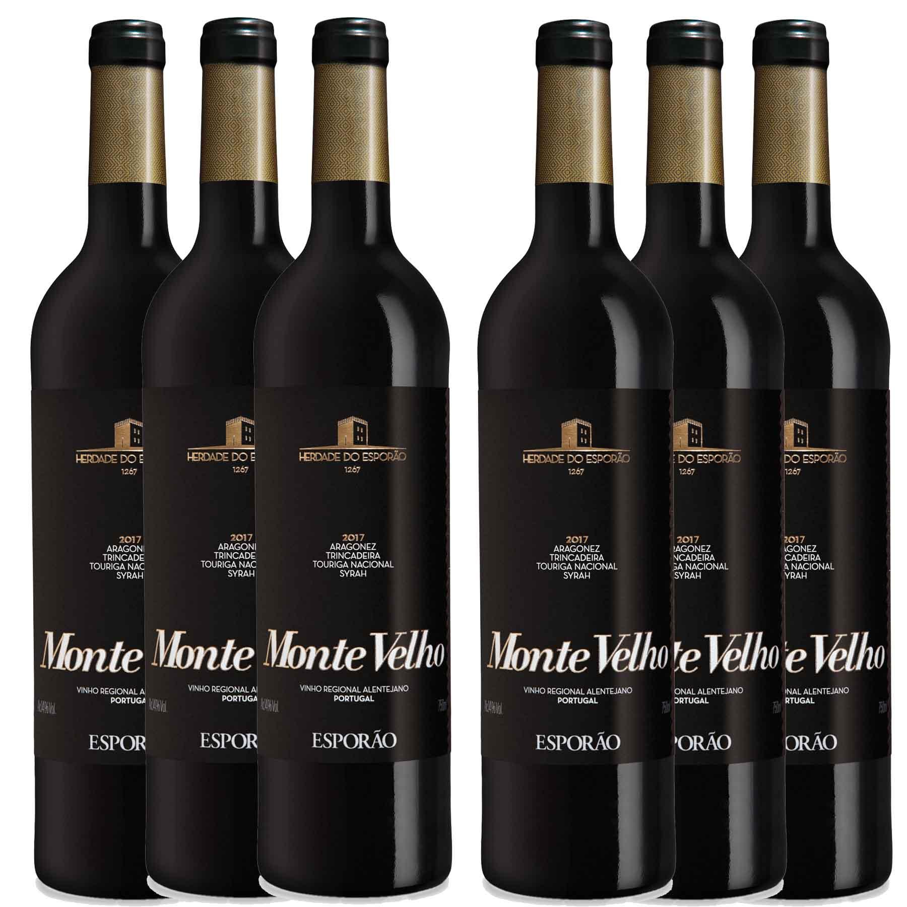Kit 6x Vinho Tinto Português Esporão Monte Velho 750ml 2019