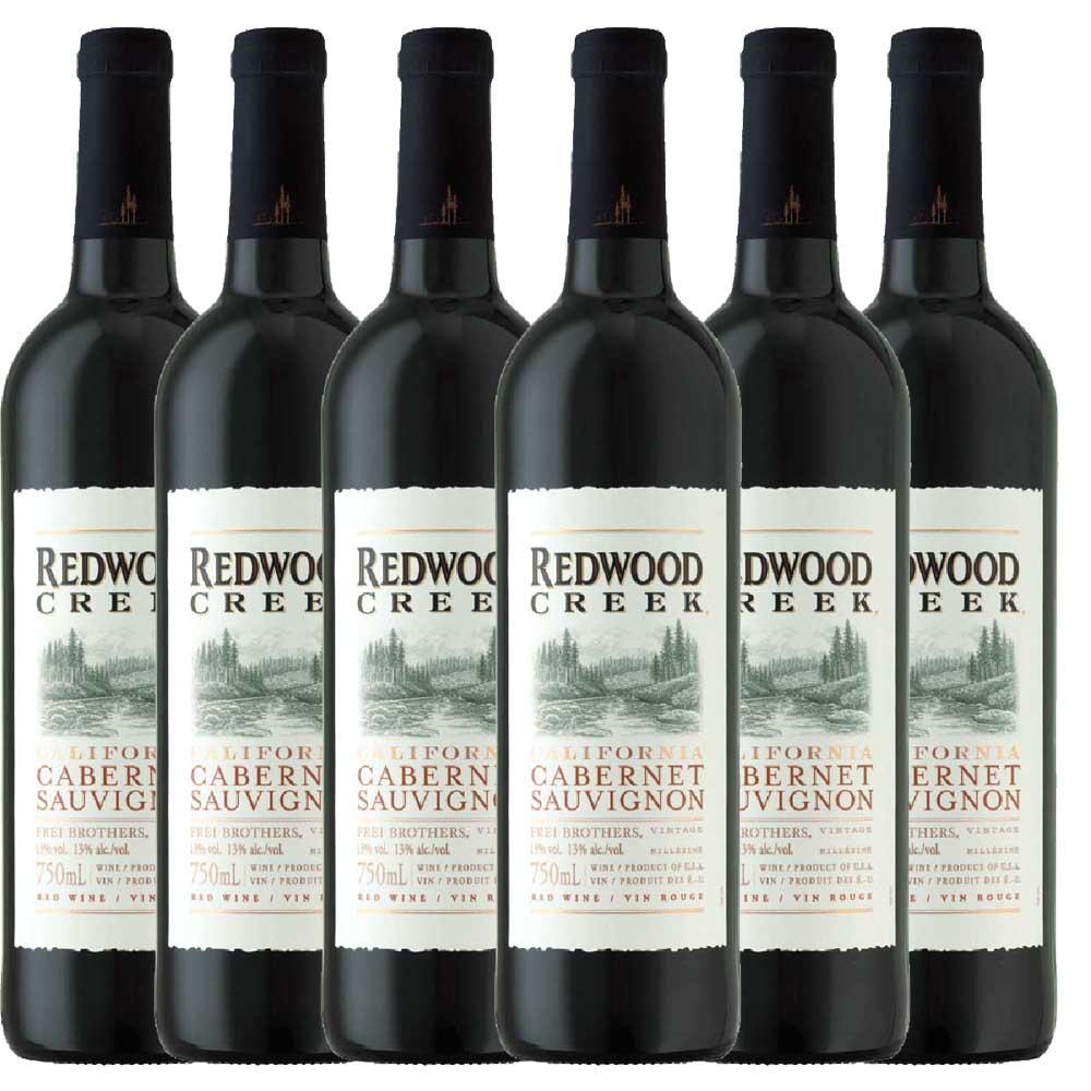Kit 6x Vinho Tinto USA Redwood Creek Cabernet Sauvignon 2018