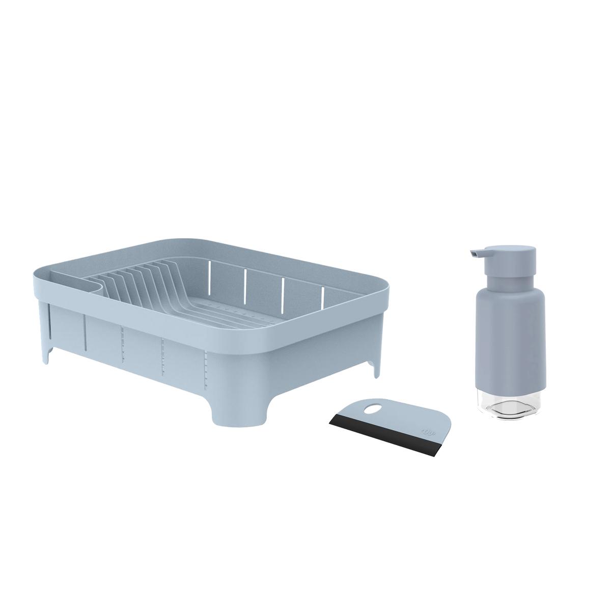 Kit para Pia 3pc Azul OU Escorredor/Dispenser/Rodo