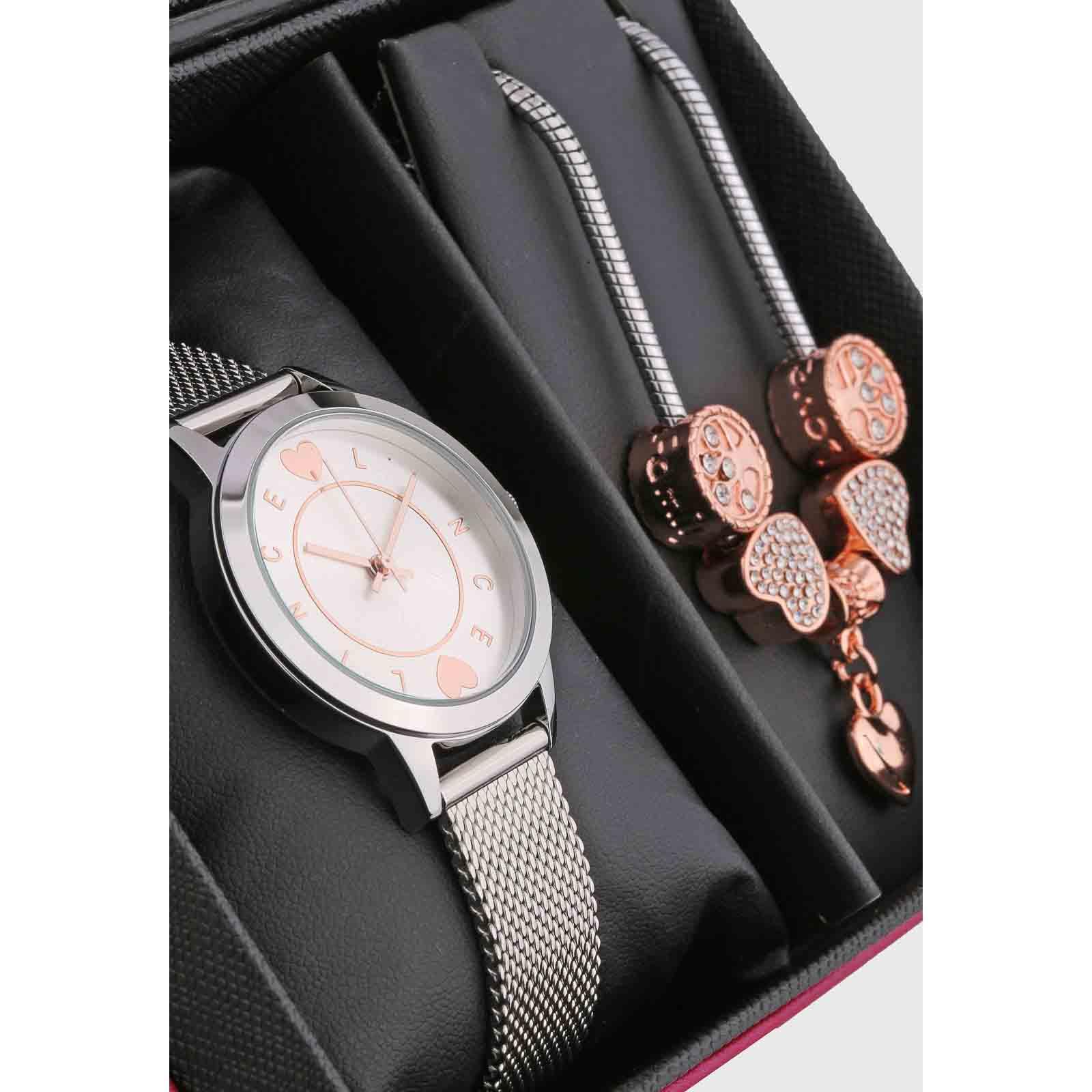 Kit Relógio Lince Feminino + Pulseira LRGH149LKY46C1KX