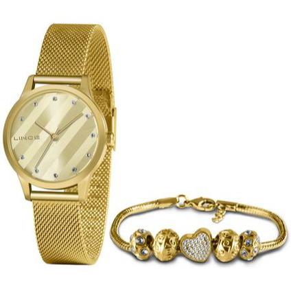 Kit Relógio Lince Feminino + Pulseira LRGH151LKY52C1KX