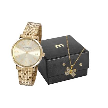 Kit Relógio Mondaine Feminino + Pulseira 32213LPMVDE1K1