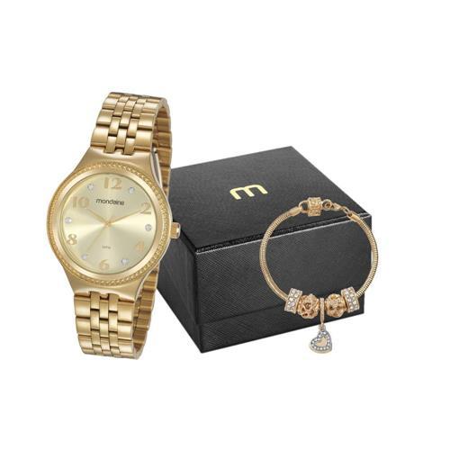 Kit Relógio Mondaine Feminino + Pulseira 99510LPMVDE1K1
