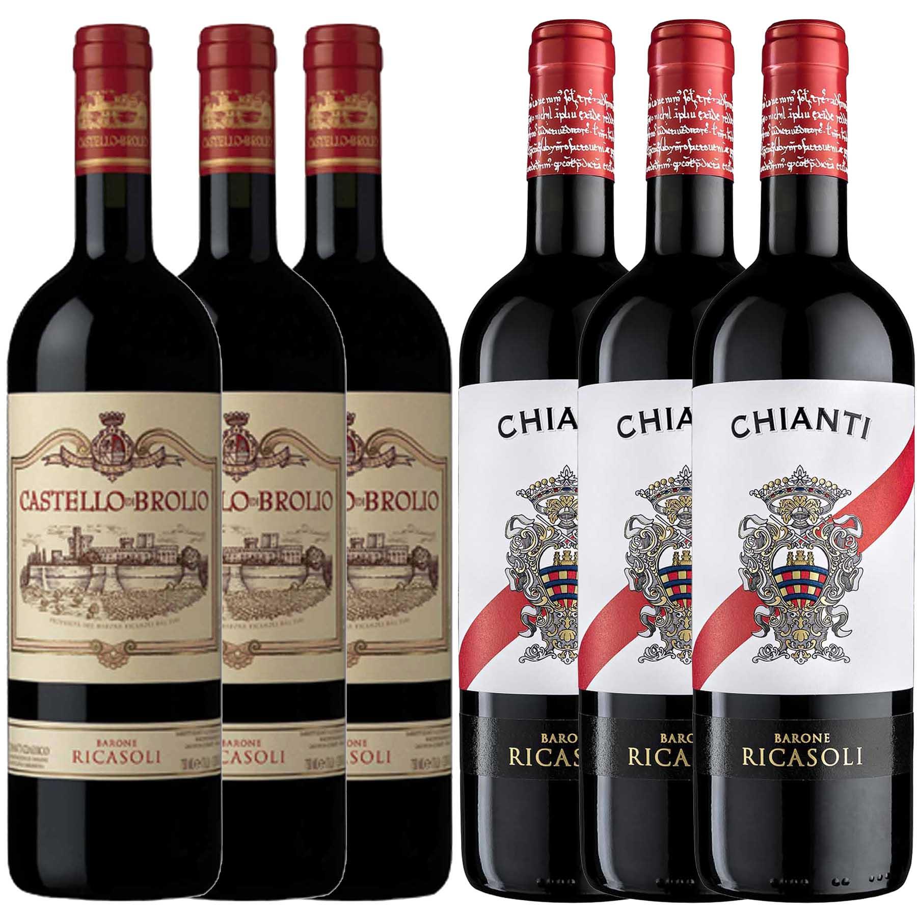 Kit Toscana 6 Vinho Chianti Ricasoli/Chianti Classico Brolio