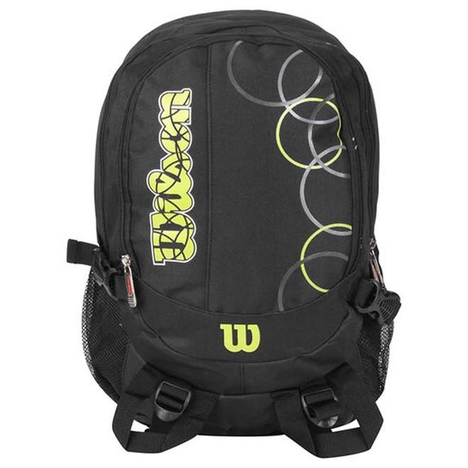 Mochila Esportiva Unissex Wilson 24 Litros Preto/verde Wtix1