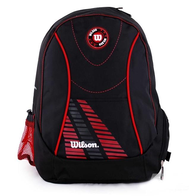 Mochila Esportiva Unissex Wilson 26 litros Preta/Vermelha WTIX12255A