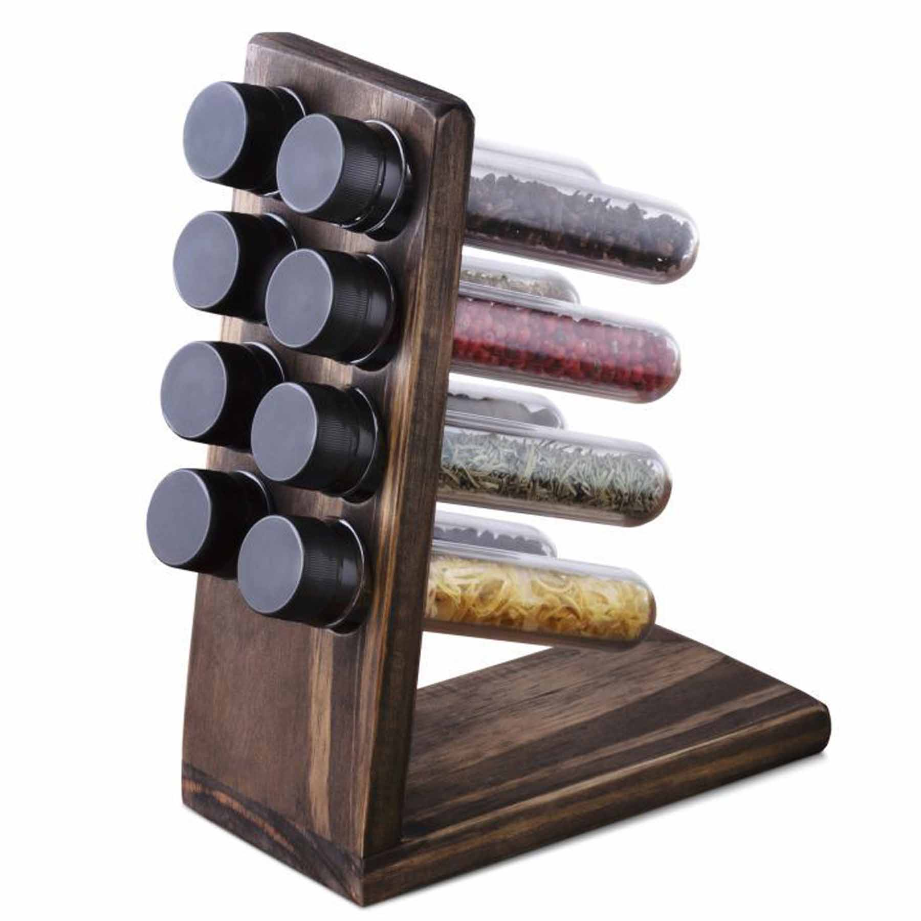 Porta Temperos em madeira com 8 recipientes Stolf