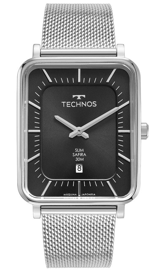 Relógio Analógico Masculino Prata Technos GM10YS/1P