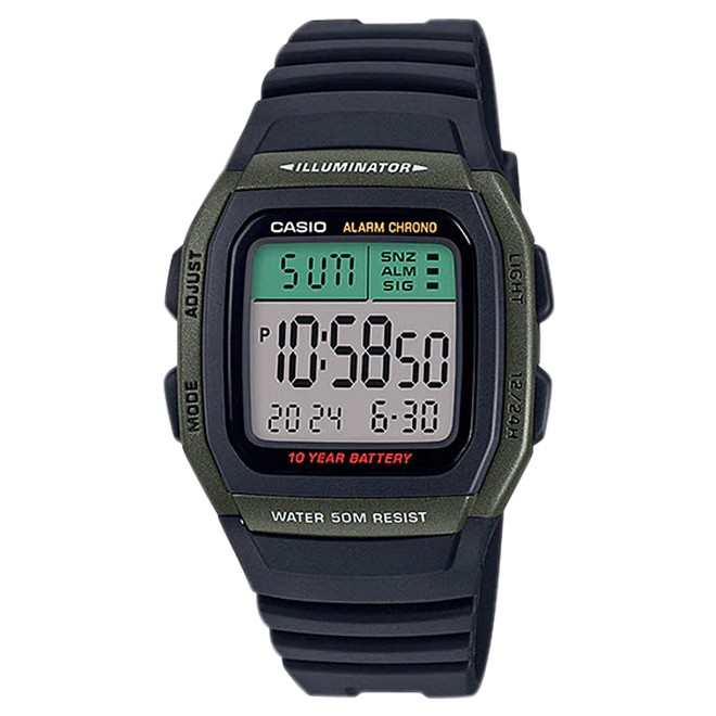 Relógio Casio Digital Masculino W-96H-3AVDF-S