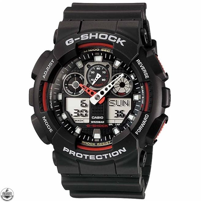 Relógio Casio G-Shock Anadigi Masculino GA-100-1A4DR