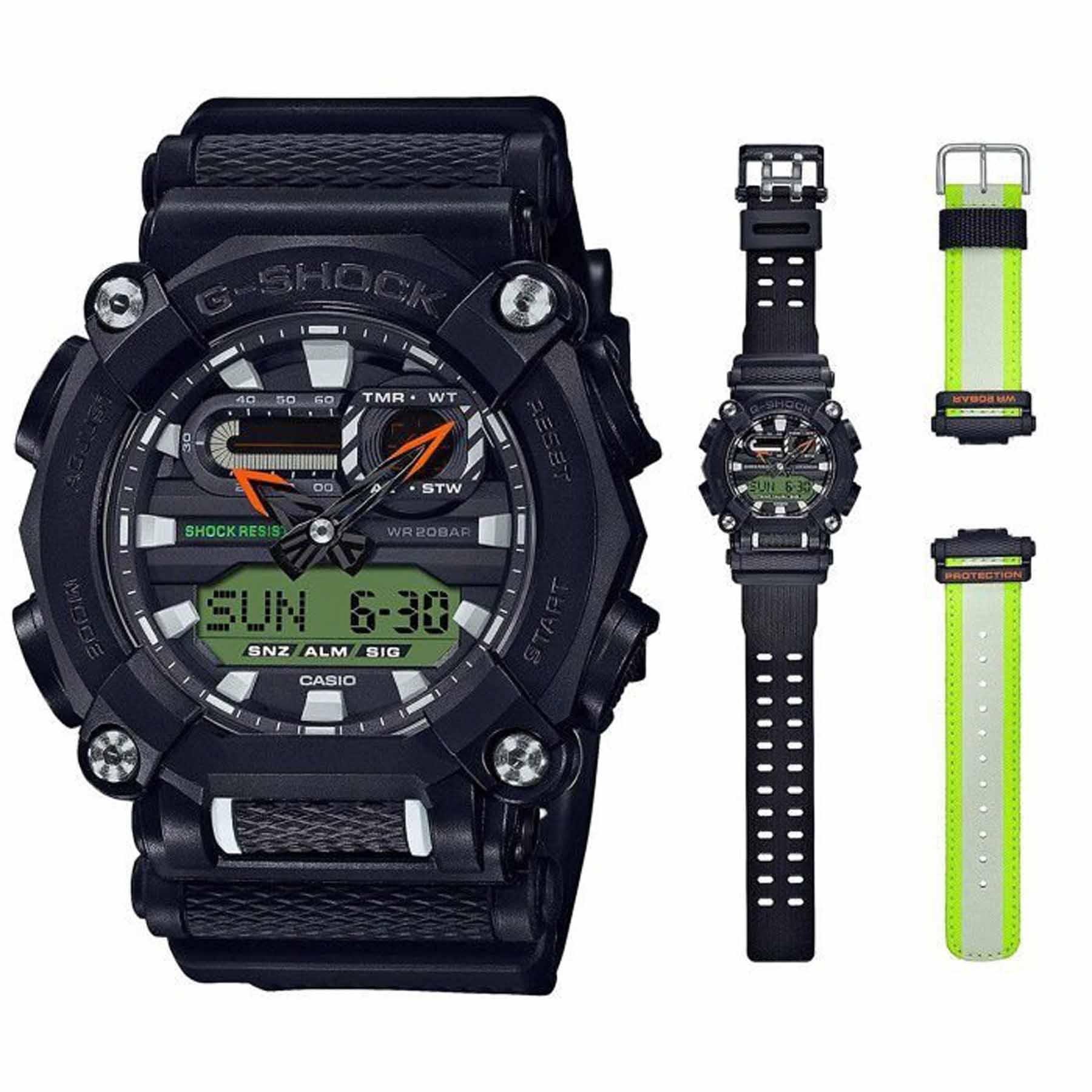 Relógio Casio G-Shock Anadigi Masculino troca Pulseiras GA-900E-1A3