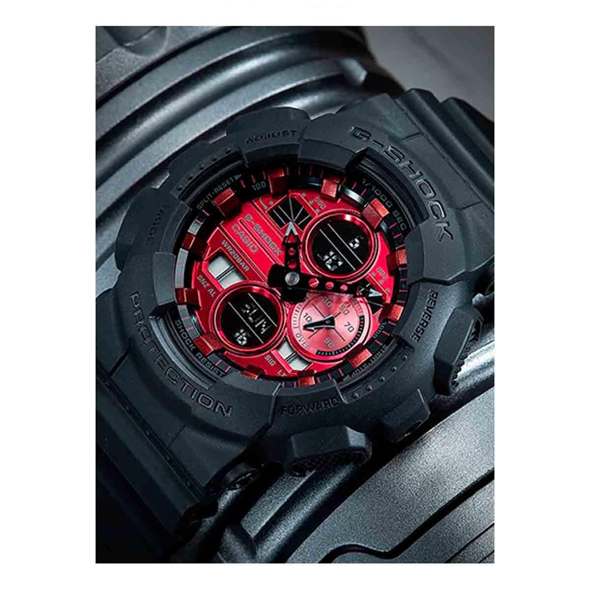 Relógio Casio G-Shock Anadigi Masculino Vermelho GA-140AR-1A