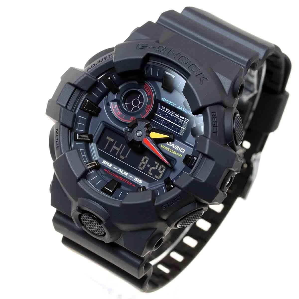Relógio Casio G-Shock Anadigi Masuclino GA-700BMC-1ADR