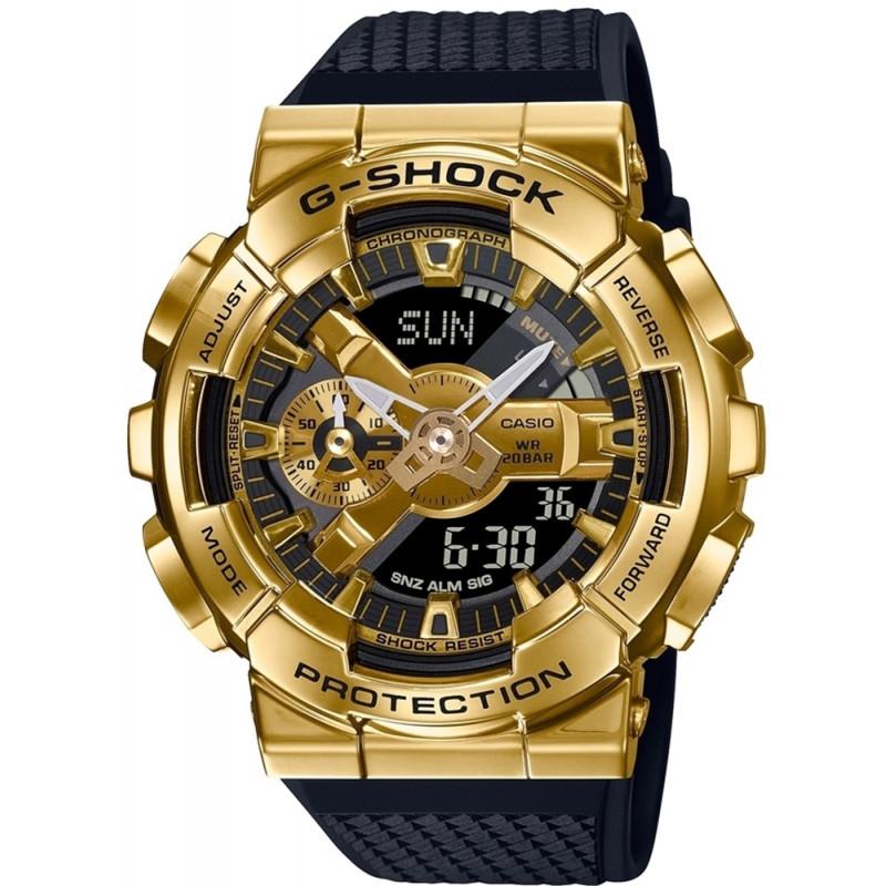 Relógio Casio G-Shock Caixa Aço Dourado Anadigi GM-110G-1A9