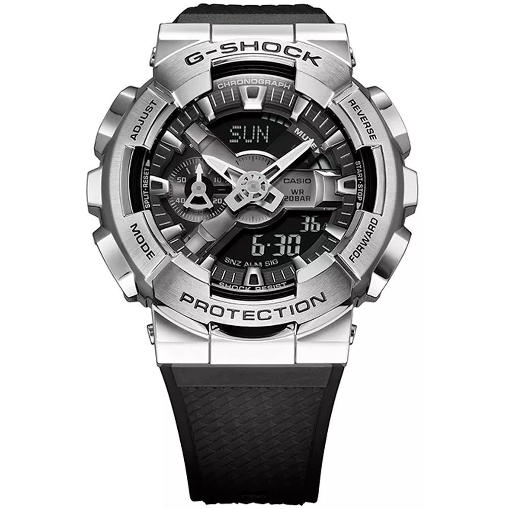 Relógio Casio G-Shock Caixa Aço Inox Anadigi GM-110-1ADR