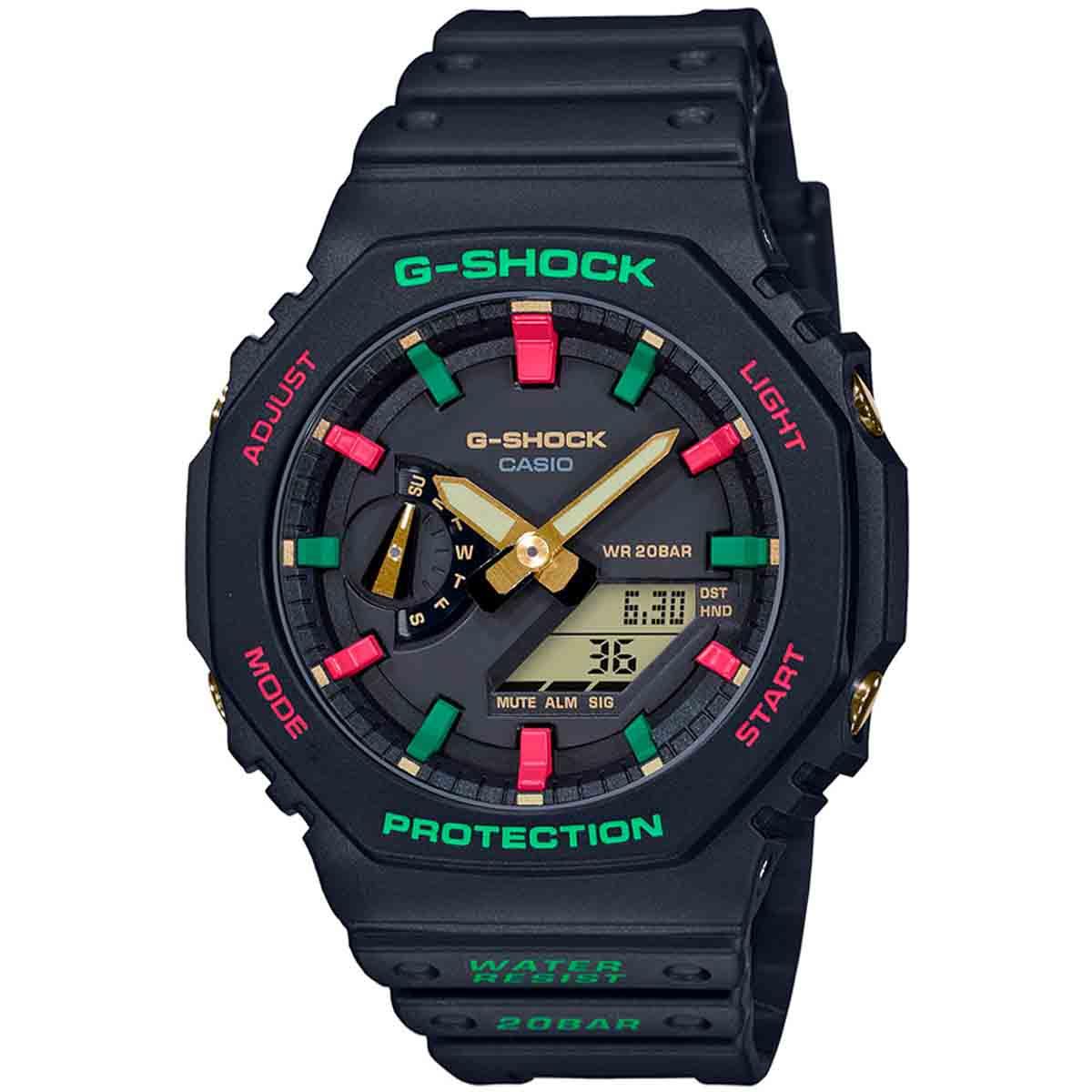Relógio Casio G-Shock Masculino Anadigi GA-2100TH-1A