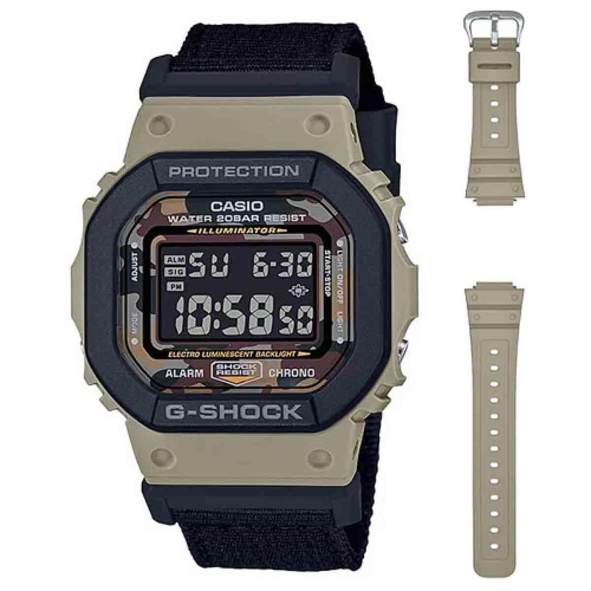 Relógio Casio G-Shock Troca-Pulseiras Masculino DW-5610SUS-5