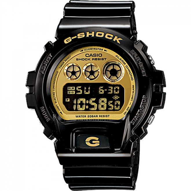 Relógio Casio Masculino G-Shock Digital Preto e Dourado DW6900CB1DS