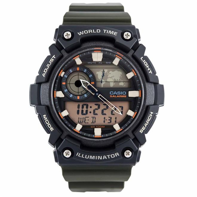 Relógio Casio Standard Anadigi Masculino AEQ-200W-3AVDF-BR