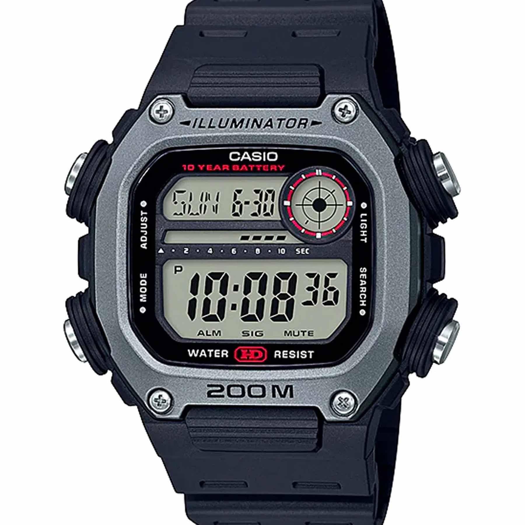Relógio Casio Standard Cinza Masculino Digital DW-291H-1AVDF